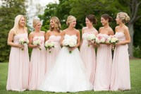 Brides + Bridesmaids Photos - Light Pink Bridesmaid ...