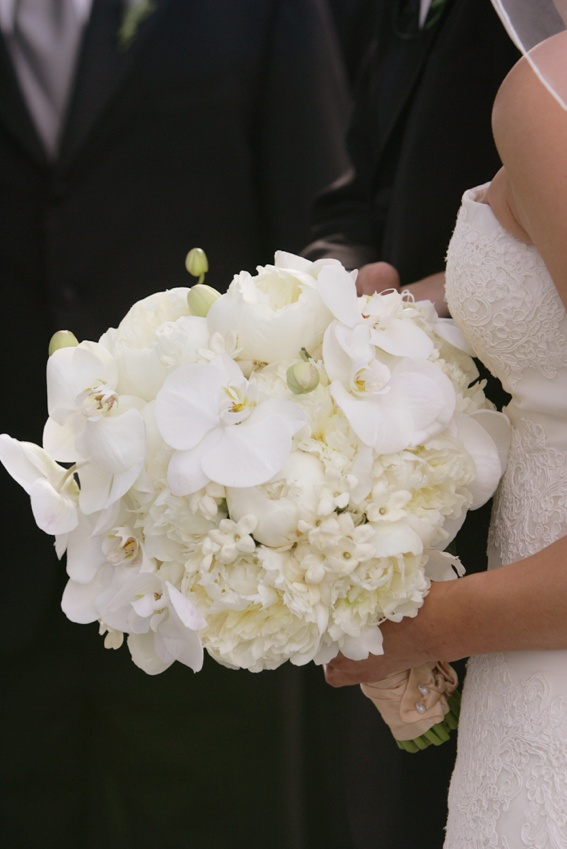 Bouquets Photos White Orchid Peony Bridal Bouquet