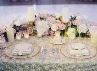 Reception Dcor Photos - Fabric Flower Sweetheart Table ...
