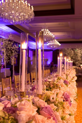Elegant White  Lavender Ballroom Wedding with Cherry