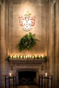 Reception Dcor Photos - Fireplace with Wreath, Garland ...