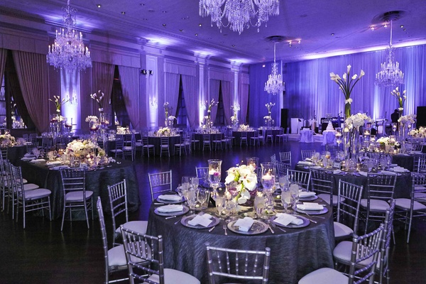 Stunning Chicago Wedding With Purple Lighting & Ivory