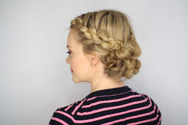 Rehearsal Dinner Knotted Updo