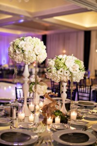Reception Dcor Photos - Elegant Centerpieces Grouped on ...