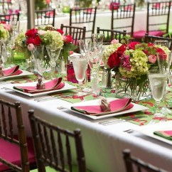 Green Chair Cushions Red Metal Chairs Rehearsal Dinners Photos Pink And Inside Rectangular Table With Festive