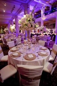 Reception Dcor Photos - White + Gold Tablescape with ...