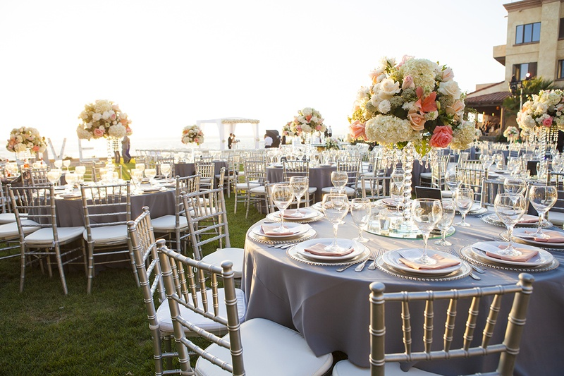 white lawn chairs plastic racing office chair uk reception décor photos - outdoor oceanfront grey & coral inside weddings