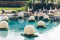 Reception Dcor Photos - Manicured Floating Pool Floral ...