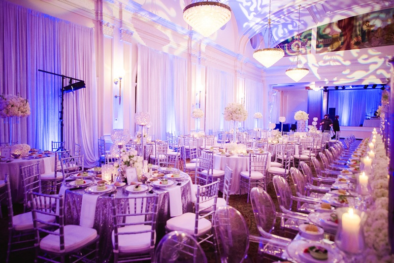 Reception Dcor Photos Purple And White Ballroom