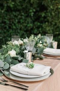 Elegant Wedding Reception Table Settings & Elegant