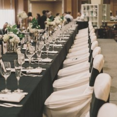 Black Glitter Chair Covers Party Rental Chairs Black, White & Gold Wedding With Details In Newport Beach - Inside Weddings
