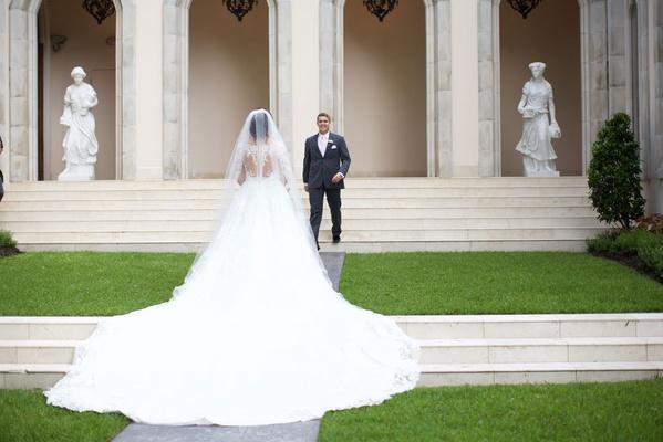 romantic wedding with crystal