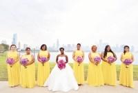 City Wedding at Chicago Planetarium with Purple + Yellow ...