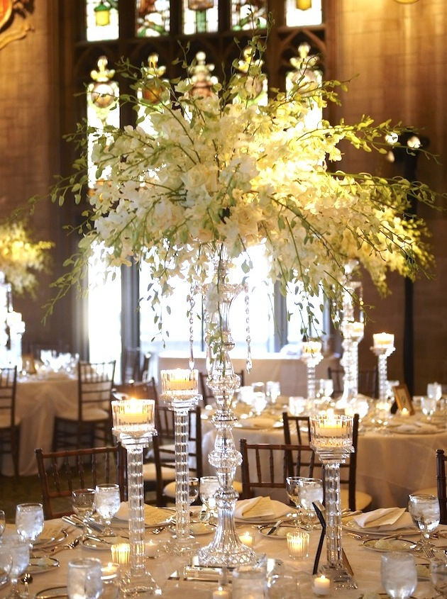 White Wedding Centerpieces  Wedding Flowers  Inside Weddings