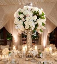 White Wedding Centerpieces - Wedding Flowers - Inside Weddings