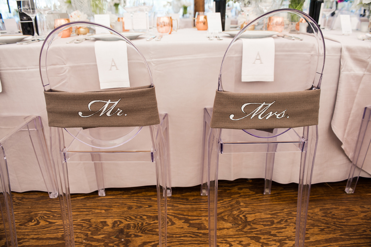 wedding bride and groom chairs chair leg pads home depot signs for the newlyweds at reception inside label your with creative one of a kind