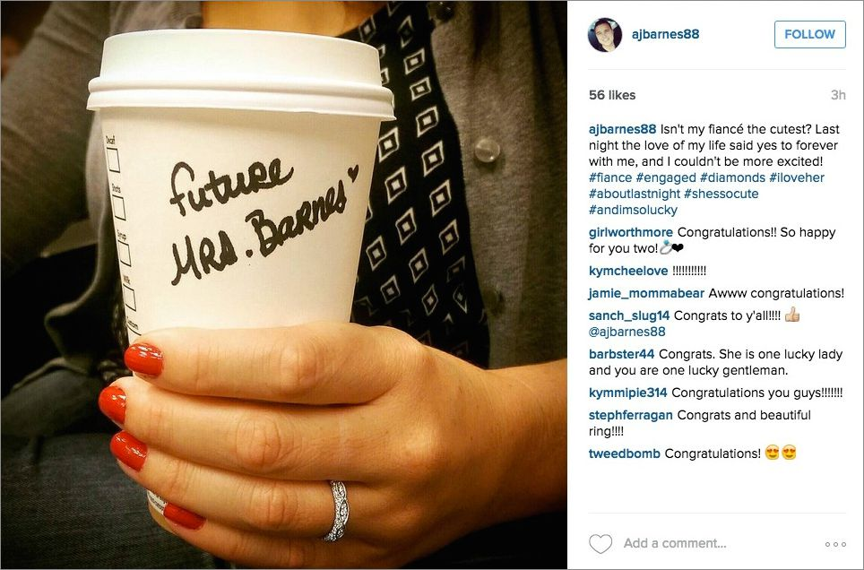 Wedding Instagram Cute Posts to Announce Your Engagement  Inside Weddings