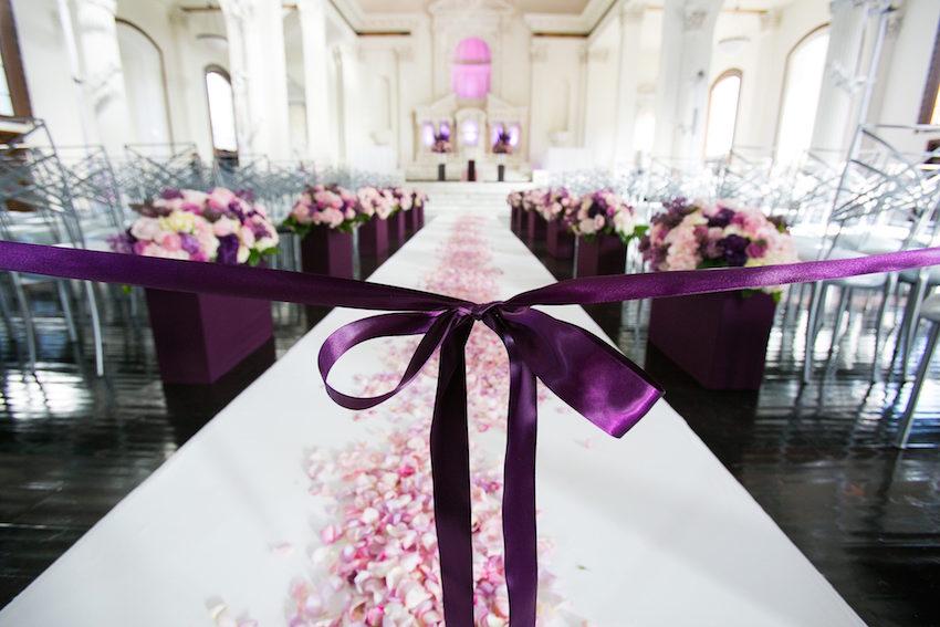 Wedding Color Palettes: Purple Décor