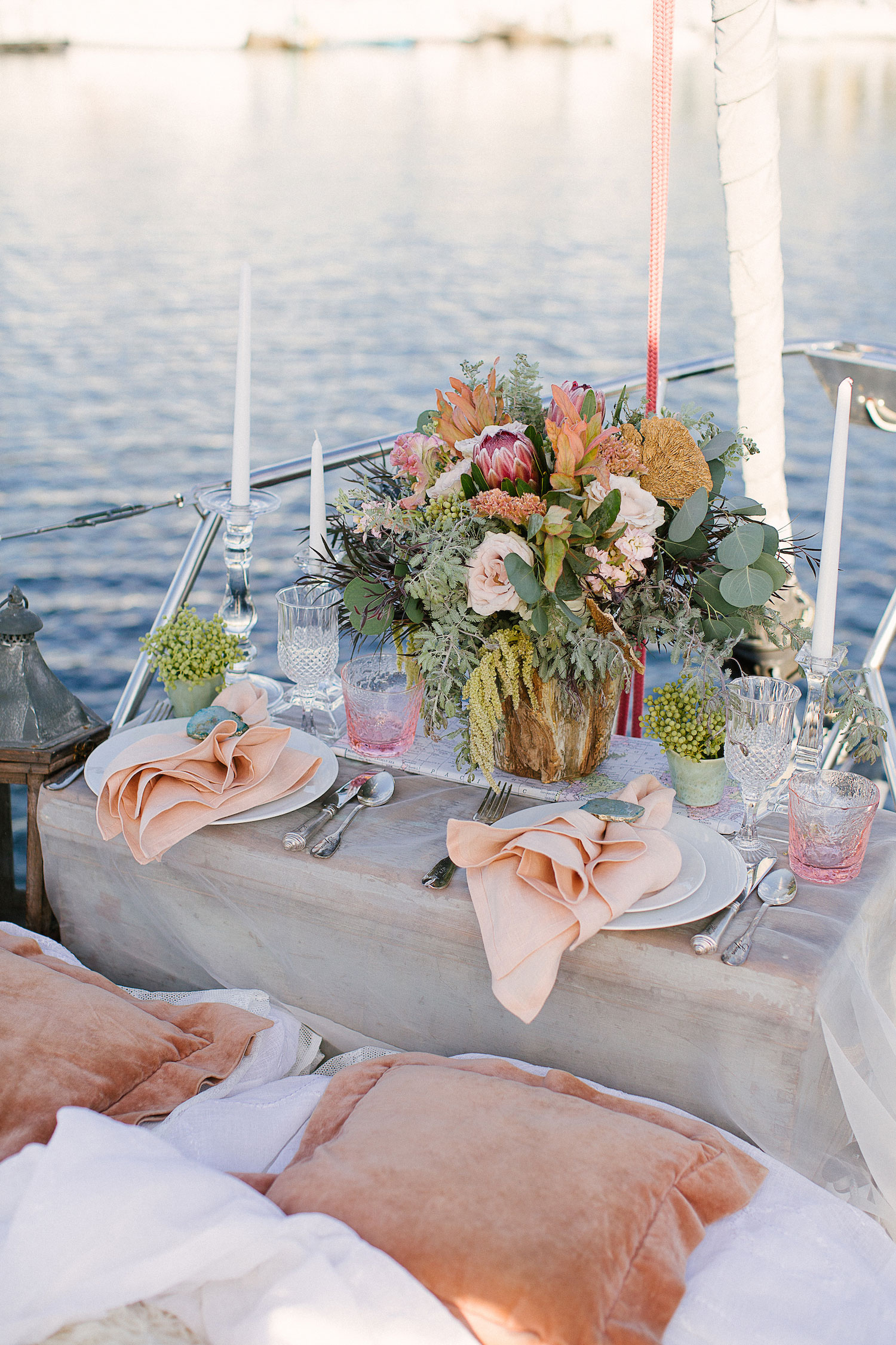 Be Inspired by a Nautical Wedding Shoot on a Sailboat  Inside Weddings