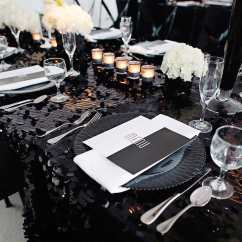 Black Glitter Chair Covers Swing No Stand Wedding Ideas How To Decorate With Sequins And