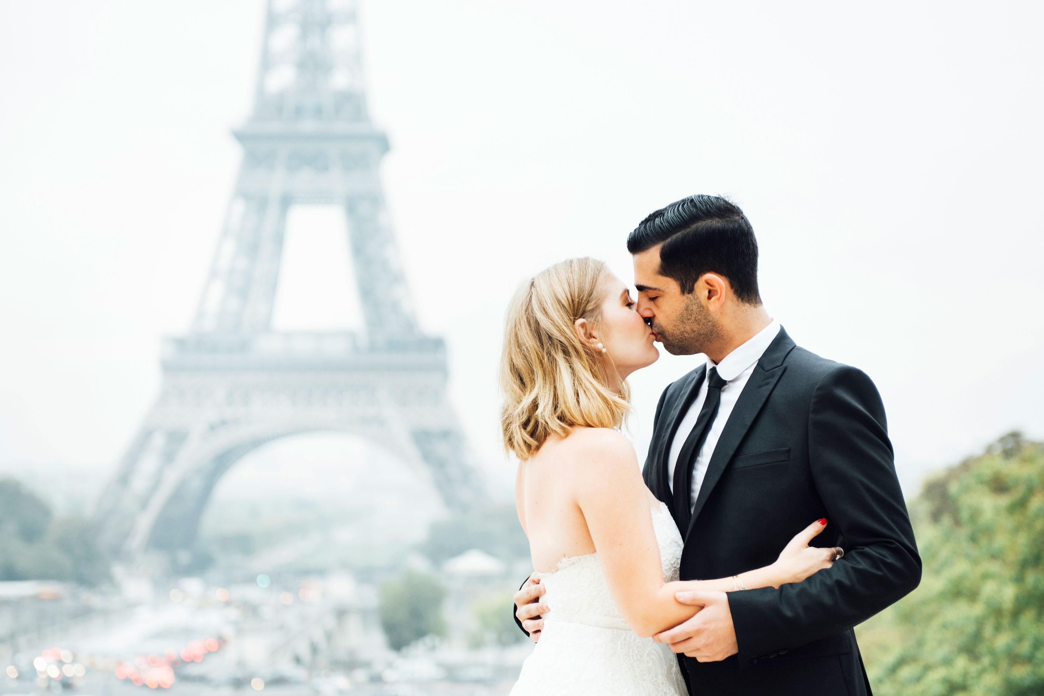 Engagement Photos Bridal Designer Sabrina Dahan's Paris E