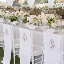 Chair Covers For Folding Chairs Wedding Revolving In Ahmedabad Ideas Pretty Unique Reception Seating Inside Weddings White Monogram On