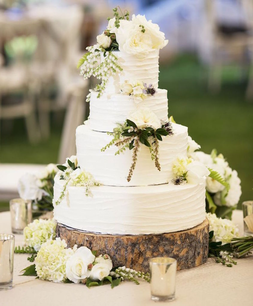 Wedding Cake Displays Natural Wood Cake Stands  Inside