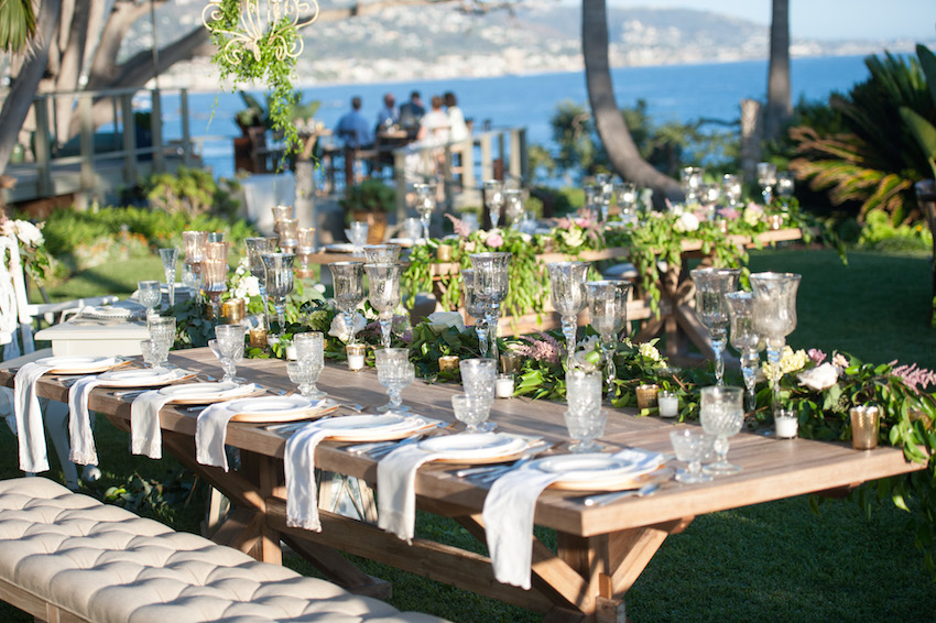 two seat lawn chairs rattan dining room table and tufted furniture rentals: give your wedding a glam look - inside weddings
