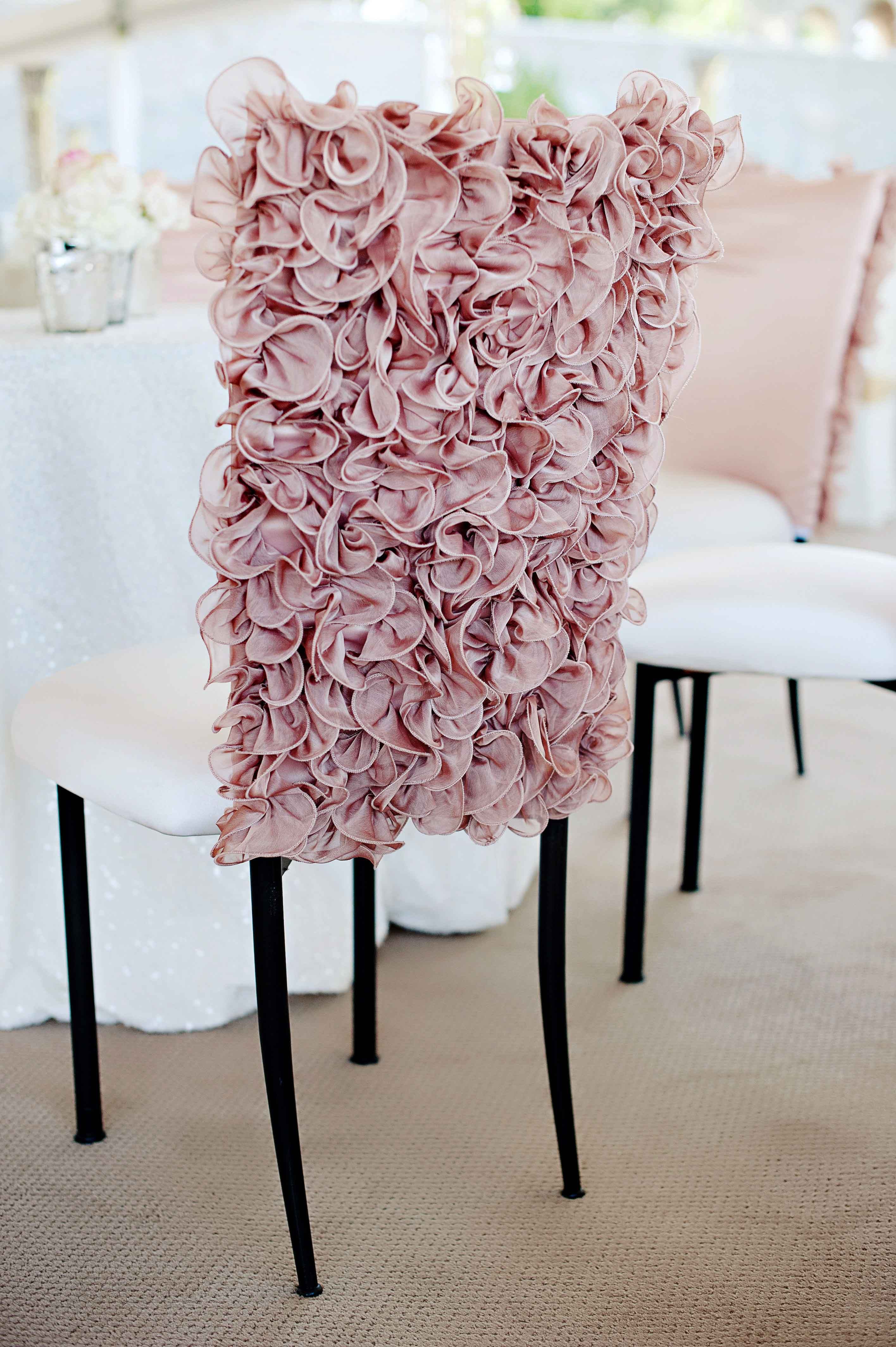 decorative chair covers wedding folding beds ideas 8 ways to add ruffles décor inside