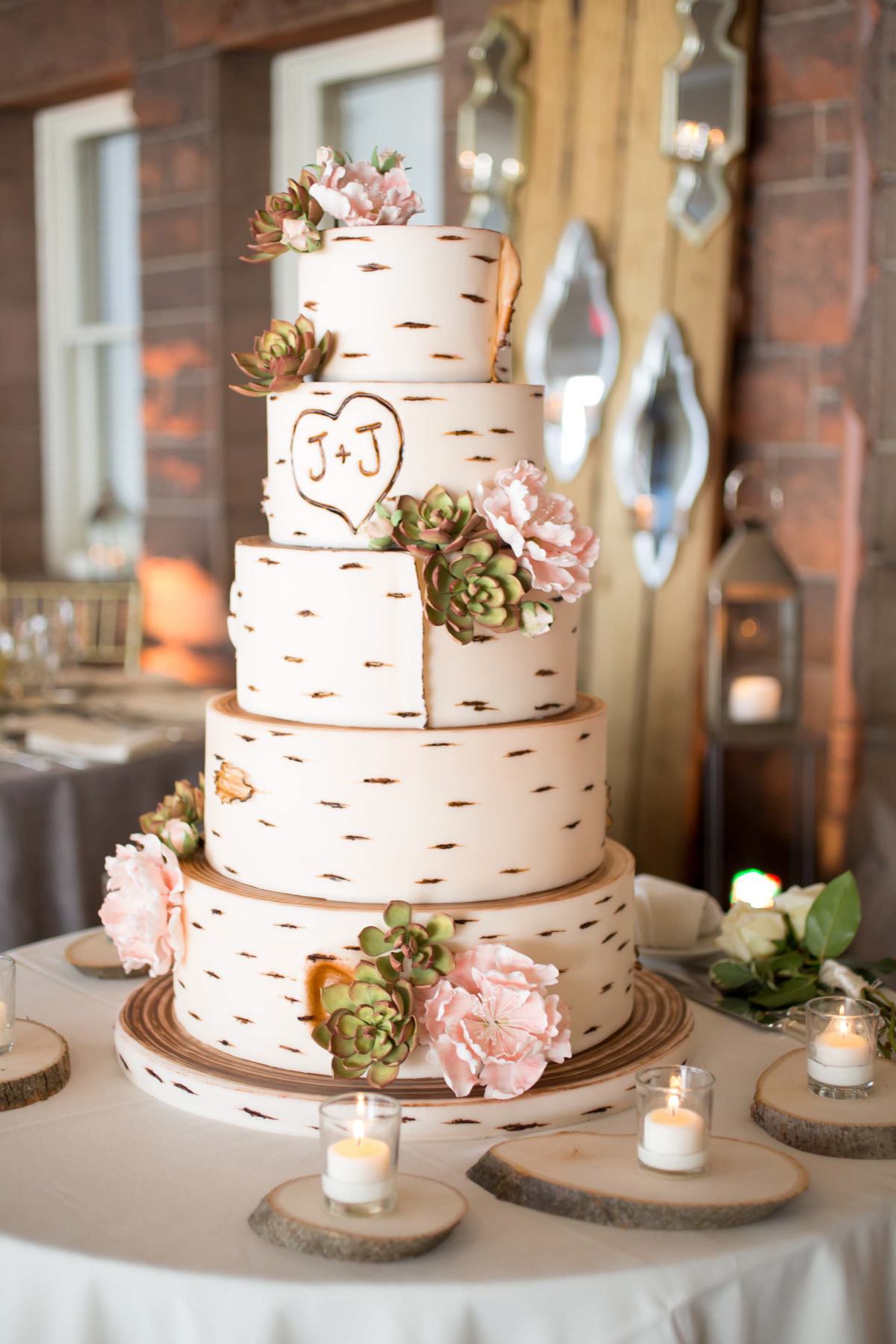 Rustic Wedding Ideas Tree Stump Wedding Decor Elements