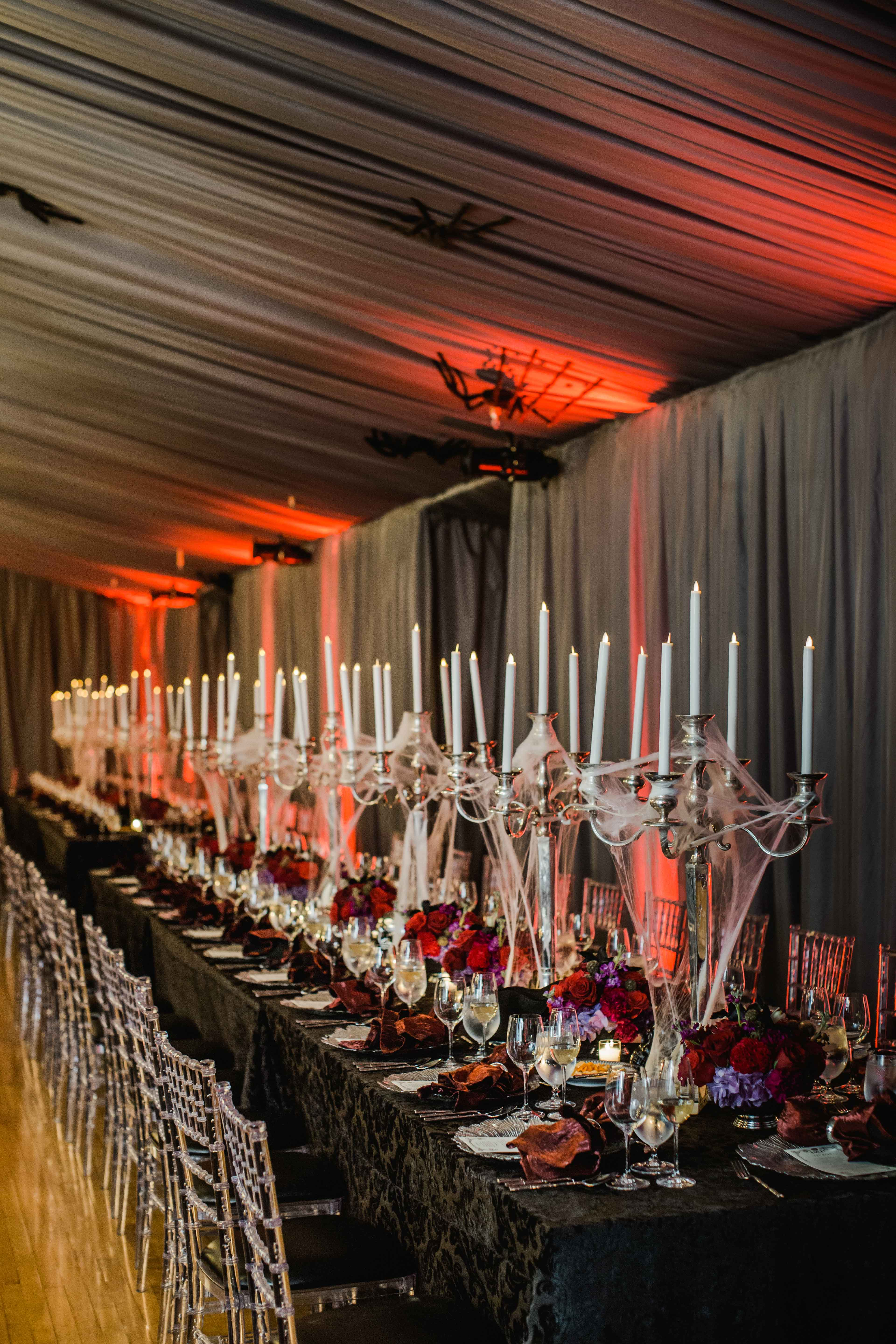 A Chic and Sophisticated HalloweenThemed Wedding  Inside