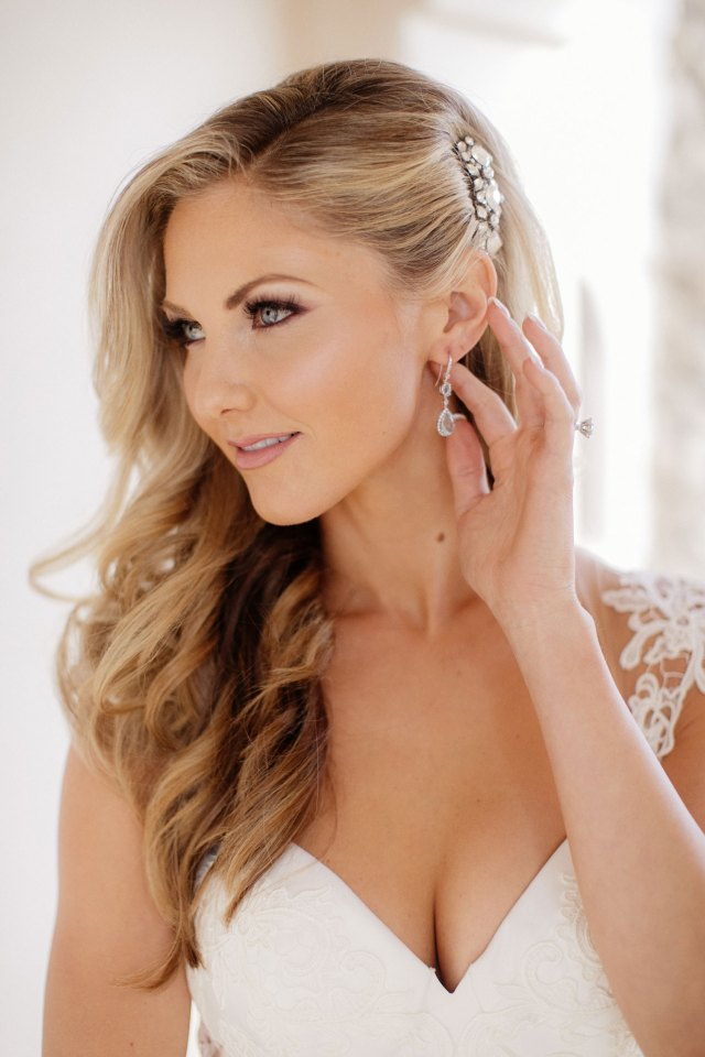 wedding hairstyle ideas: inspiration for long hair worn down