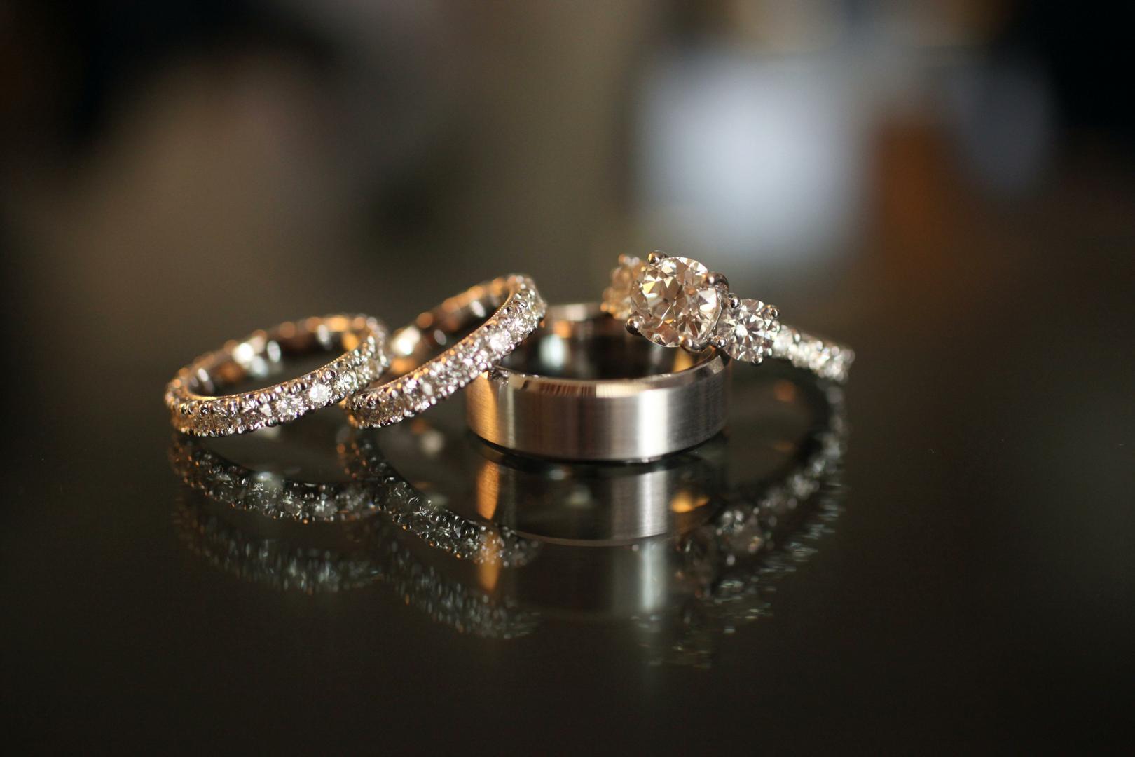 Inspiring Wedding Ring Sets For Brides Amp Grooms Inside