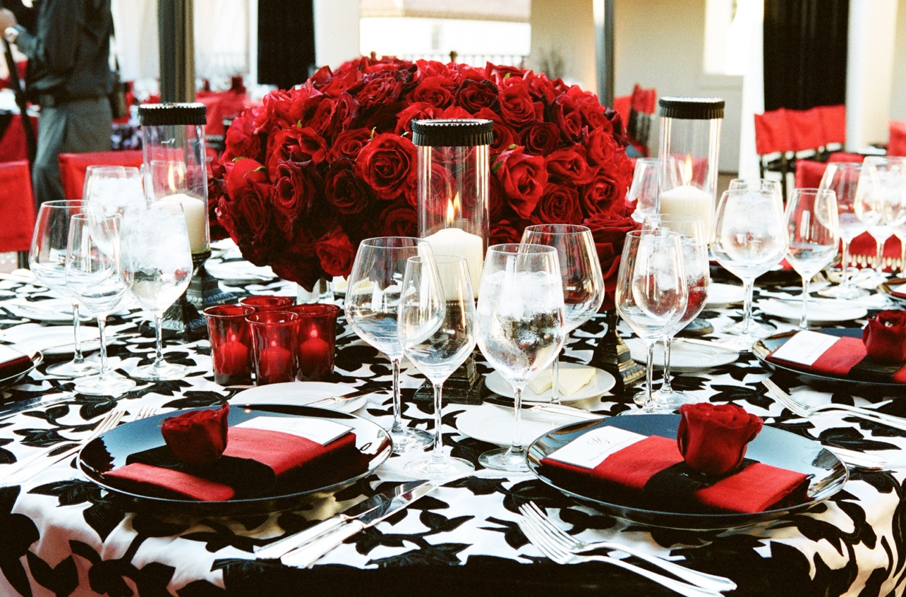 Red Black and White Wedding Color Schemes  Wedding Themes  Inside Weddings