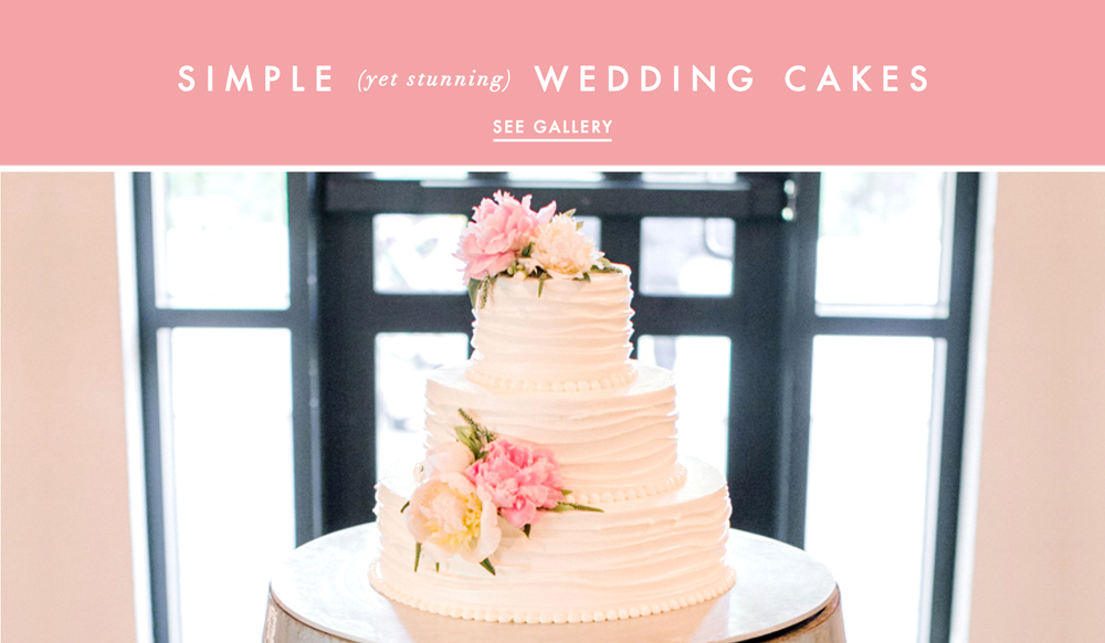 Wedding Cake Ideas: Simple And Clean Cake Designs