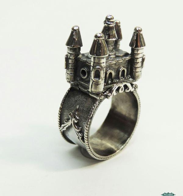 Pasarel - Sterling Silver Jewish Wedding Ring