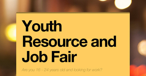 Youth Resource And Job Fair Smore Newsletters