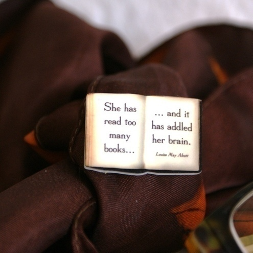 Literary quote brooch by Bookity £3.75