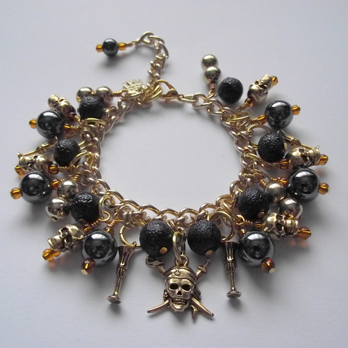 Pirate Treasure charm bracelet - Flamehaired Jewellery Designs