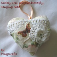 "Folksy :: Buy ""Shabby chic, recycled, butterfly hanging ..."