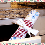 Handmade Shabby Chic Cutlery / Tool Wrap w/ Heart Patch