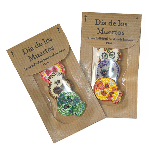 Day of the dead bag buttons
