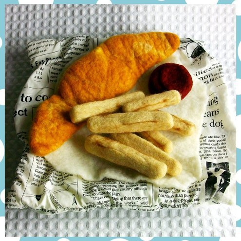 Felted Fish and Chips