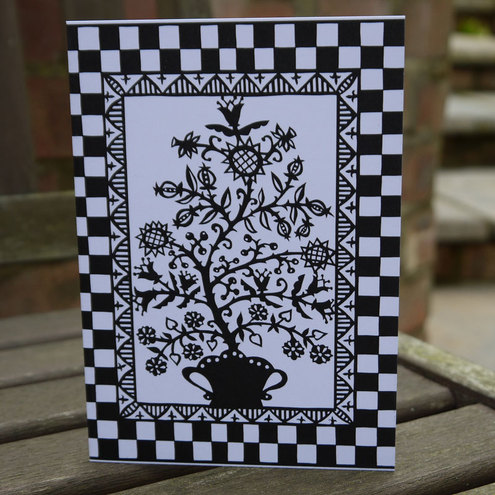 Papercut Gothic Tree Card by Papercuts by Suzy Taylor