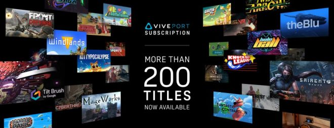 Viveport Subscription: over 200 titles