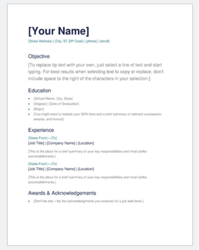 good looking ms word resume examples