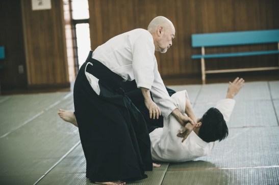 Practicing Aikido in Dojo