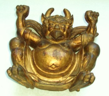 antique Garuda statue wood