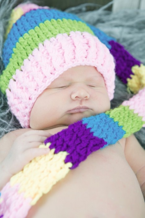 Long Hatted Sleeping Baby
