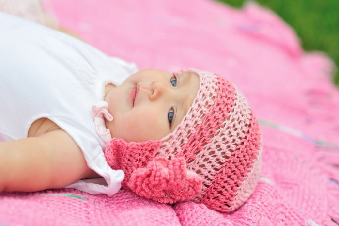 Pink Hatted Little Baby Picture